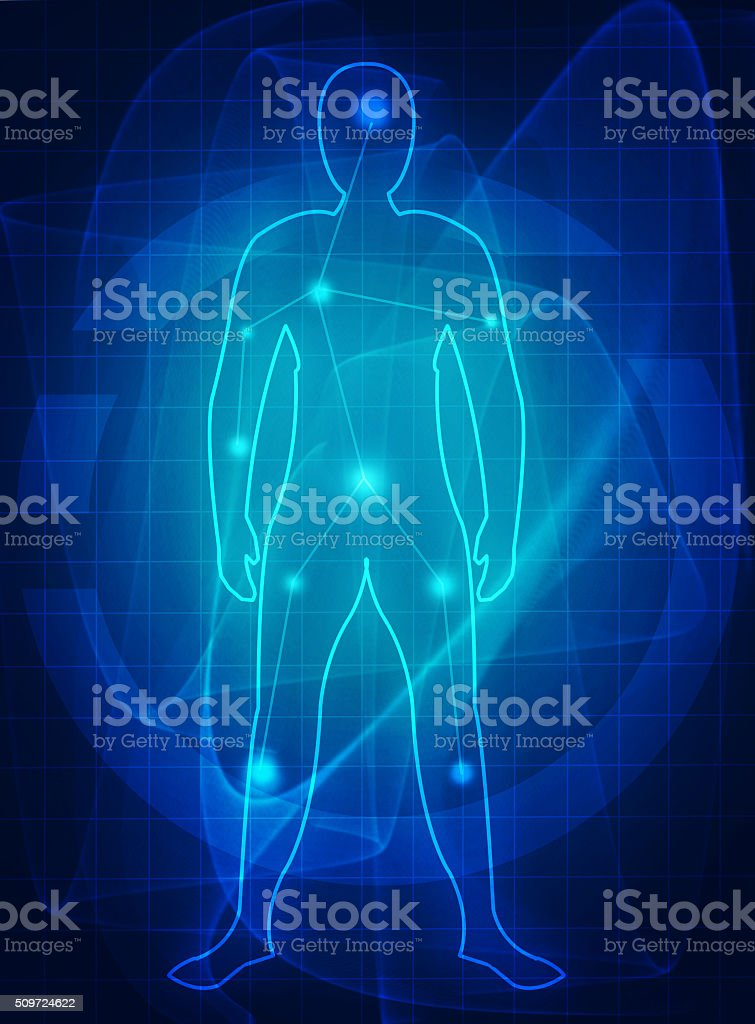 human body medical future stock photo