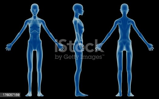 Human Body Of A Emaciated Woman For Study Stock Photo & More ...