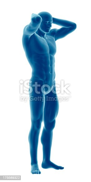 135895161 istock photo Human body of a man highlighting your muscles 175589322