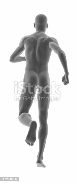 135895161 istock photo Human body of a man, running 172646140