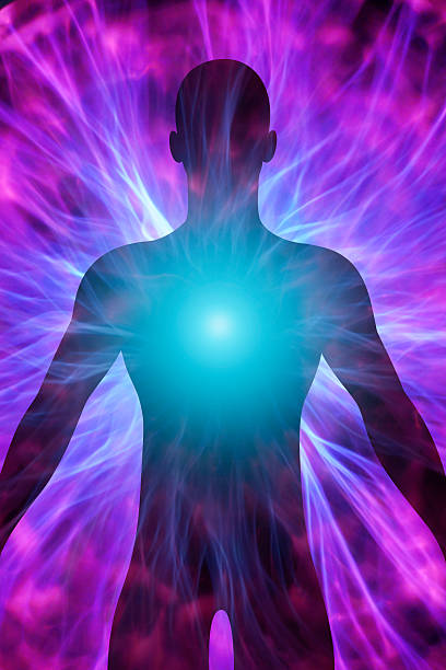 human body - aura stock photos and pictures