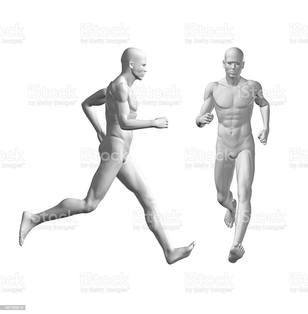 Human body running stock photo