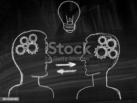 istock Human brain and communication concept 954936460