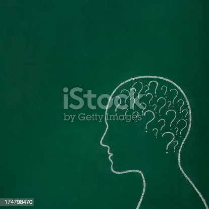 861553788 istock photo Human brain and question marks 174798470