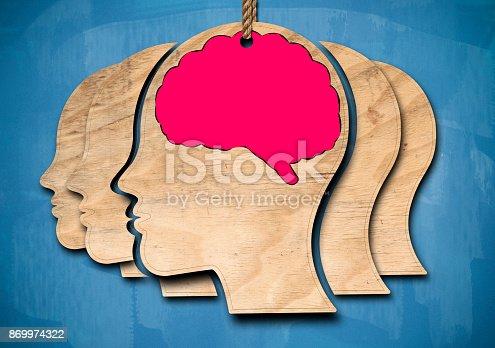 Human brain / Blue Blackboard concept (Click for more)