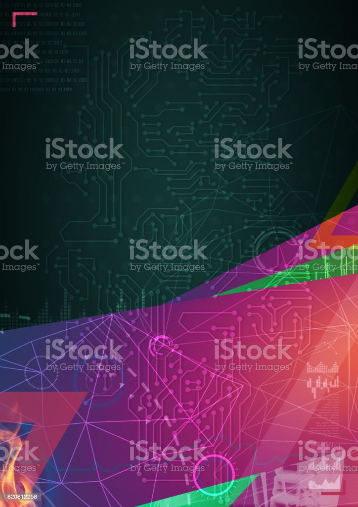 human brain by x- ray on background stock photo