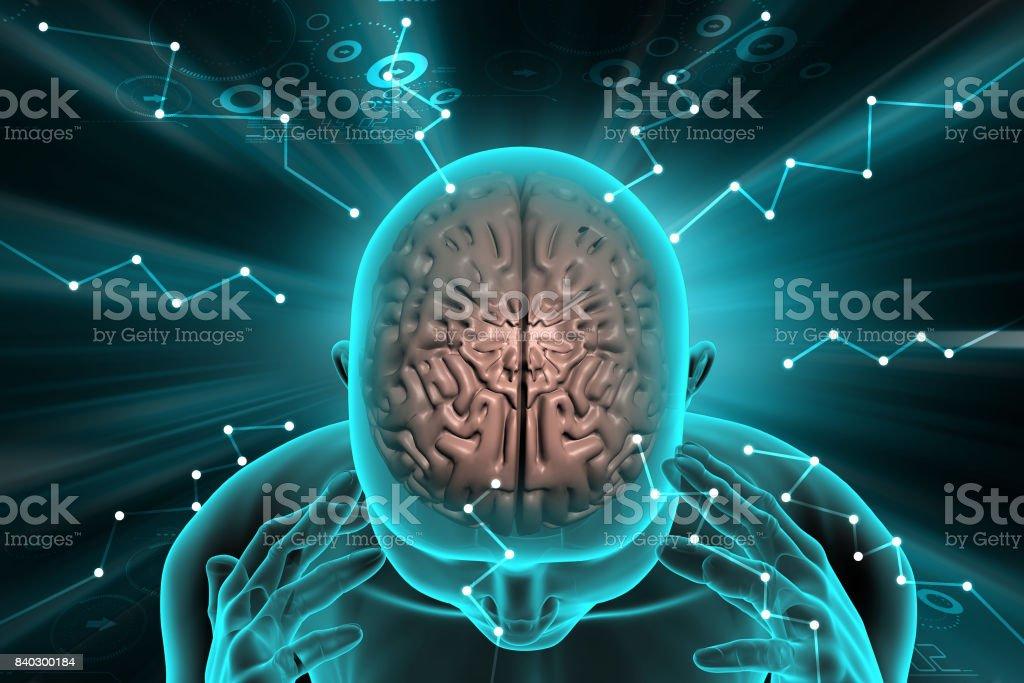 Human brain development concept - Stock image .