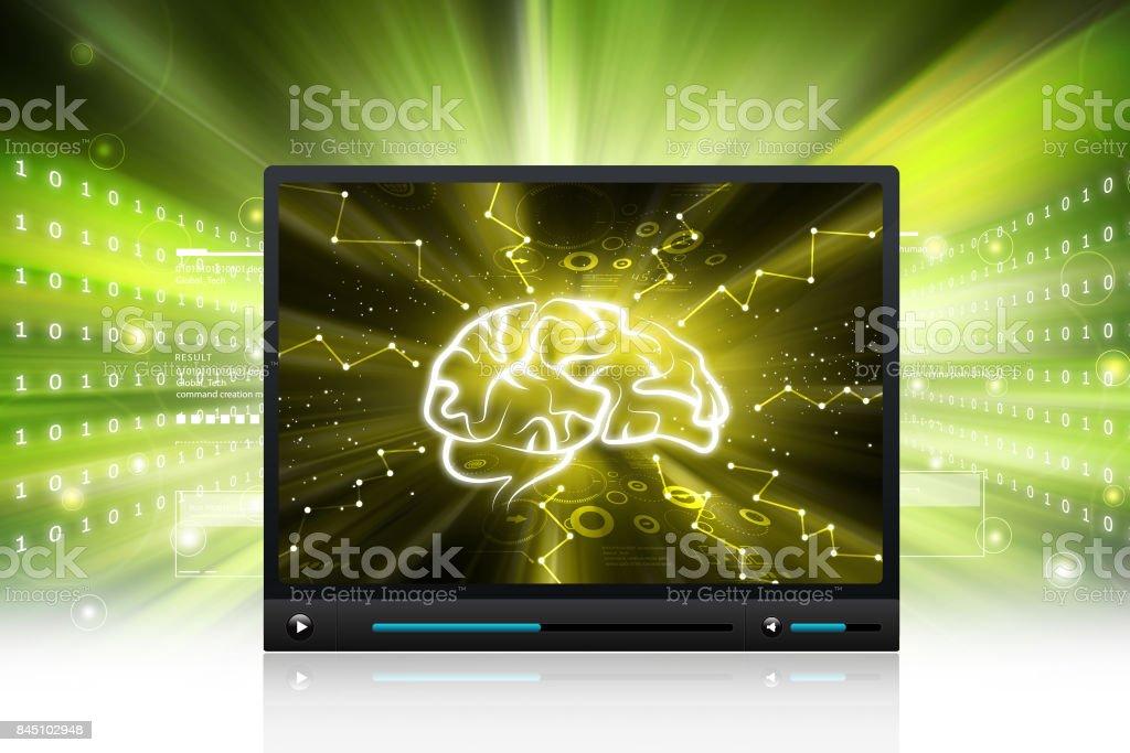 Human brain display stock photo