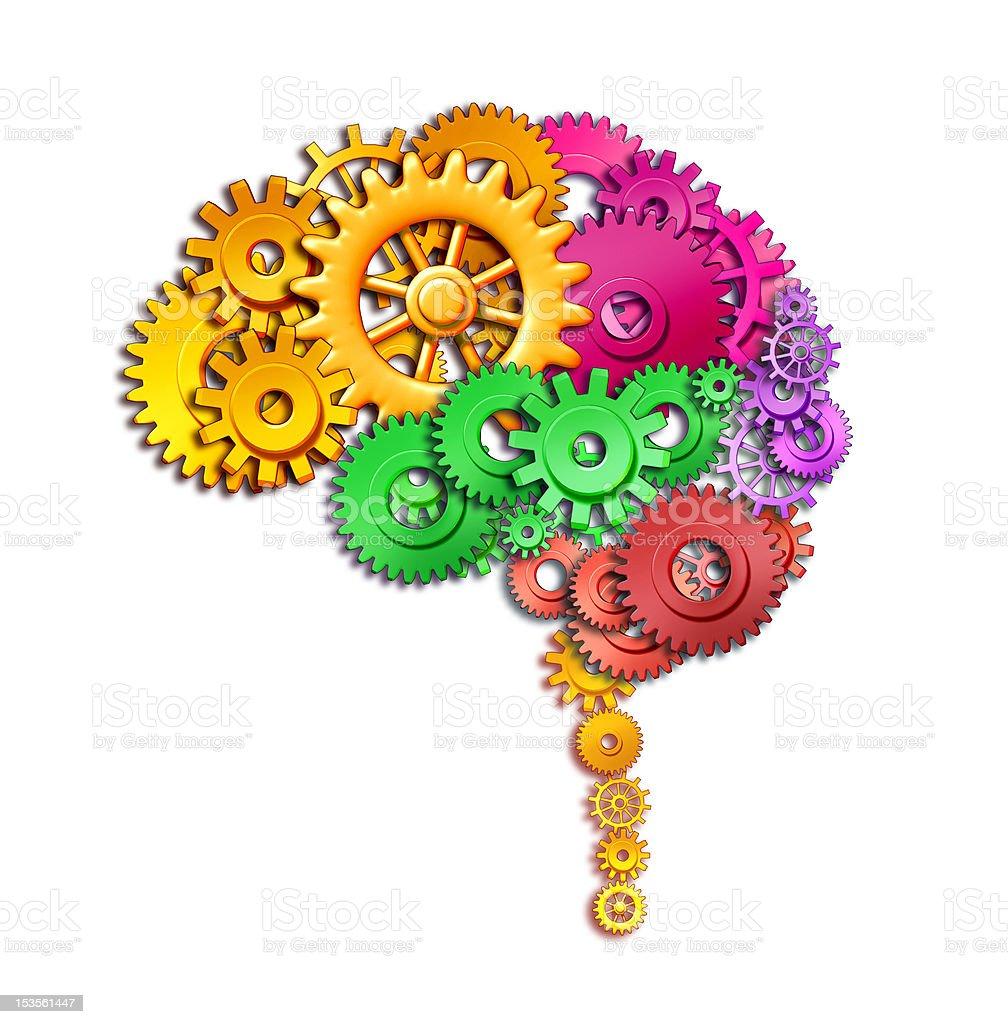 Human brain function stock photo