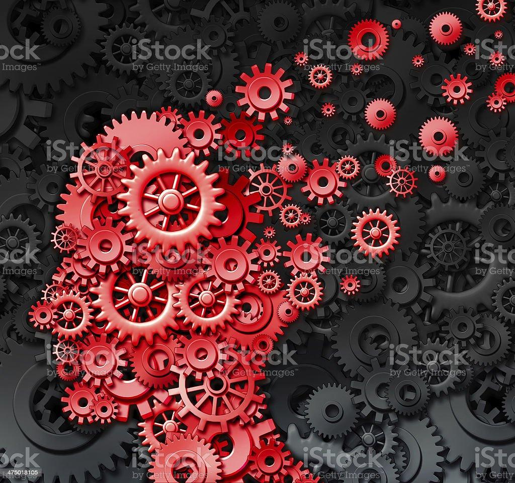 Human Brain Injury stock photo