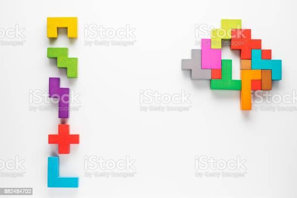 Human brain is made of multicolored wooden blocks creative medical or picture id882484702?b=1&k=6&m=882484702&s=612x612&h=e4nawf1cjdx7kvjqtcj 2wwm4rxq7tejg4xjzrqx5xk=