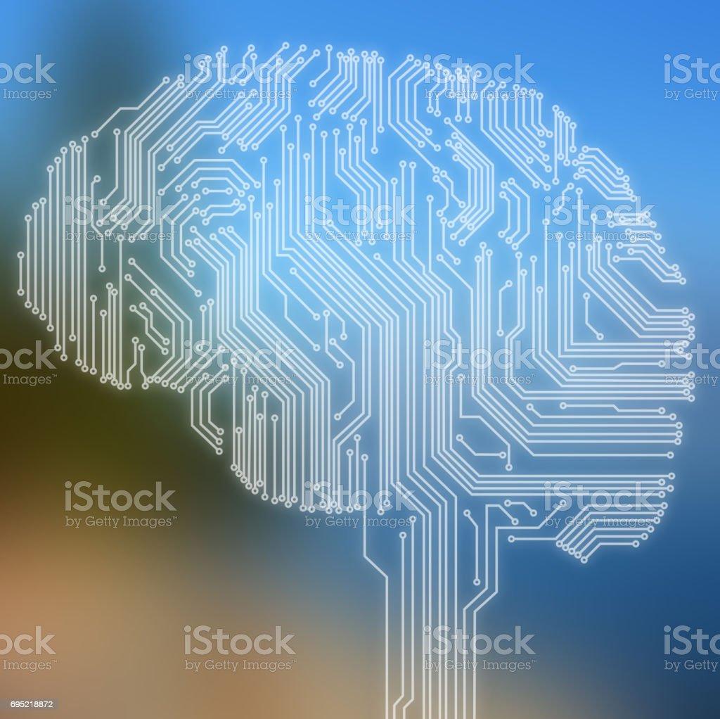 Human brain - foto stock