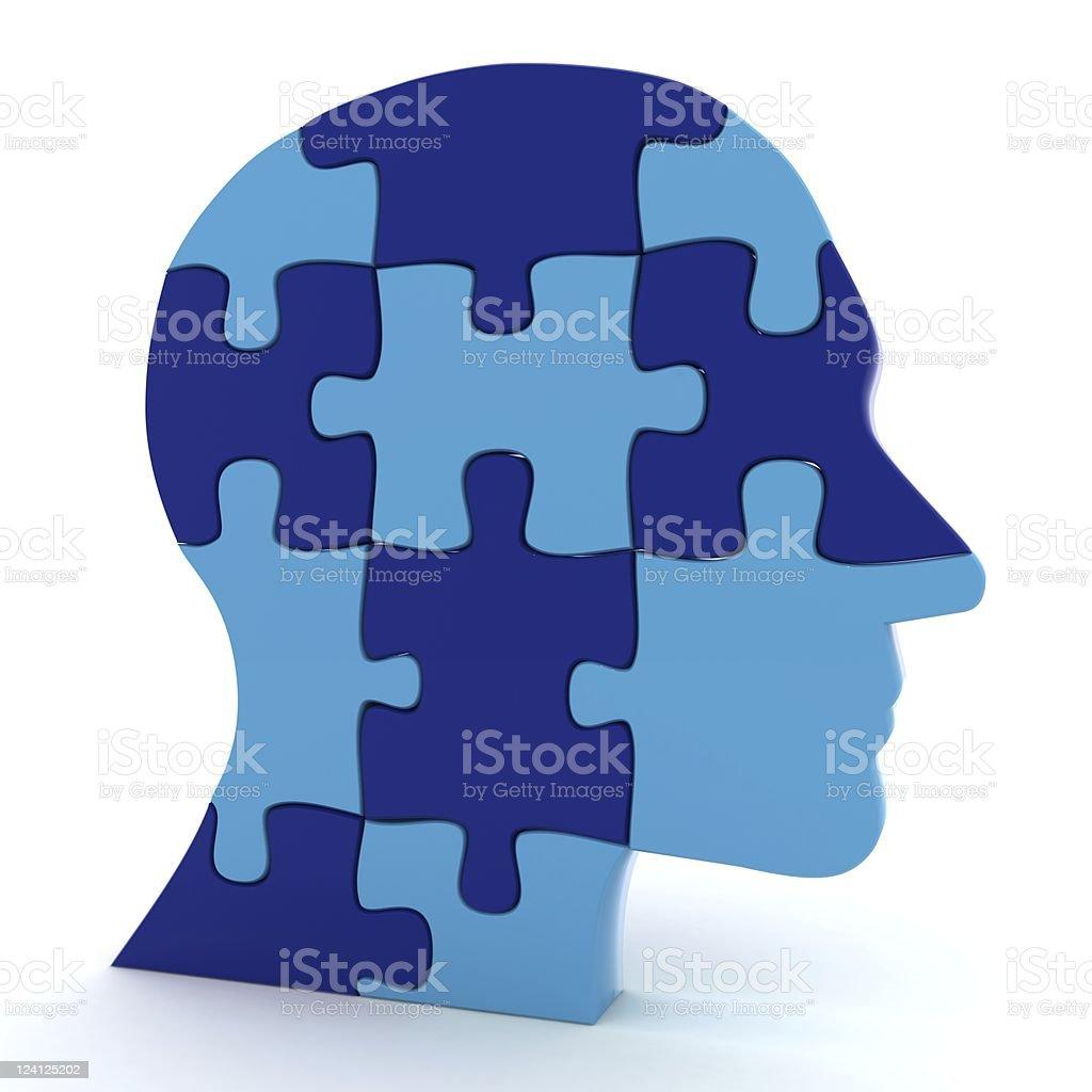 Human Brain Puzzle royalty-free stock photo