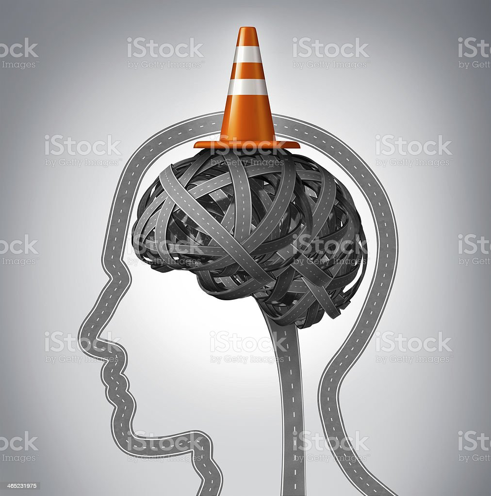 Human Brain Repair stock photo