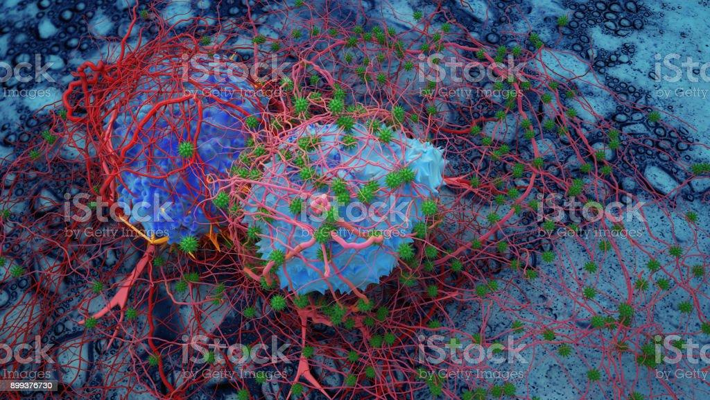 Celulares de cáncer en seres humanos - foto de stock