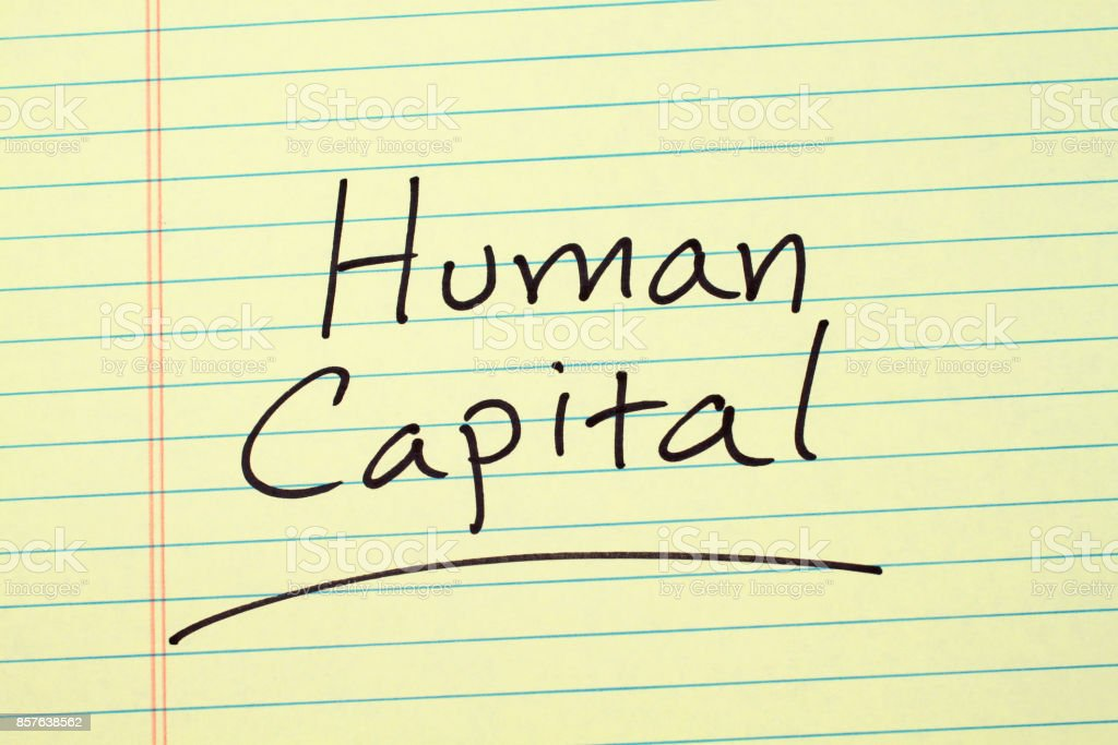 Human Capital On A Yellow Legal Pad stock photo