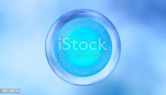 Close-up illustration of biological cells