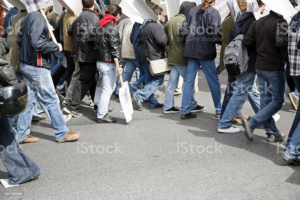 Human chain royalty-free stock photo