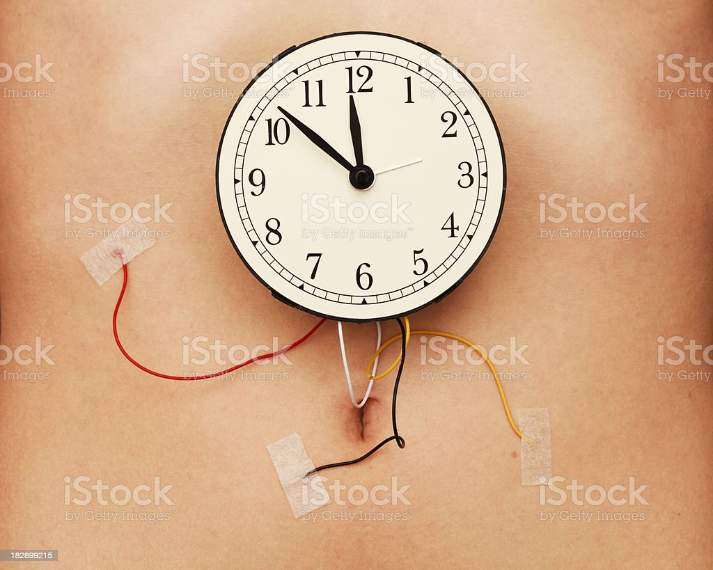 Human clock stock photo