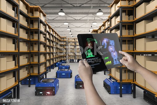 istock human control 3d rendering robot 862172618