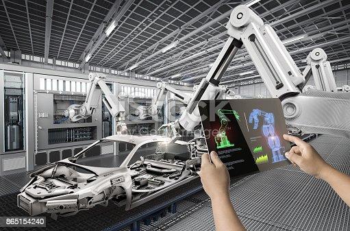 istock human control 3d rendering robot 865154240