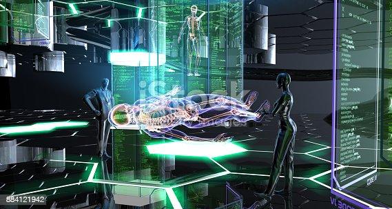 istock Human Creation in The Future 884121942