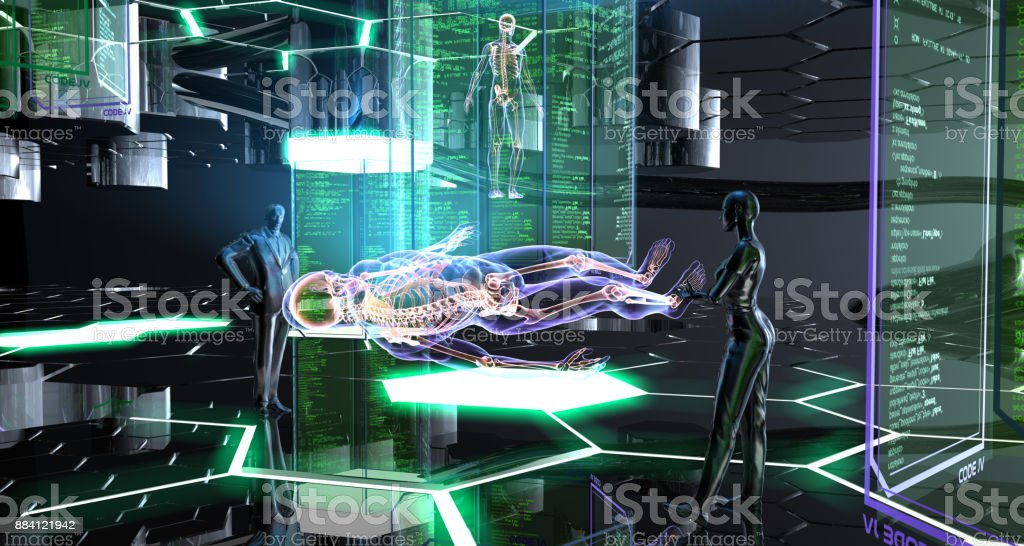 Human Creation in The Future stock photo