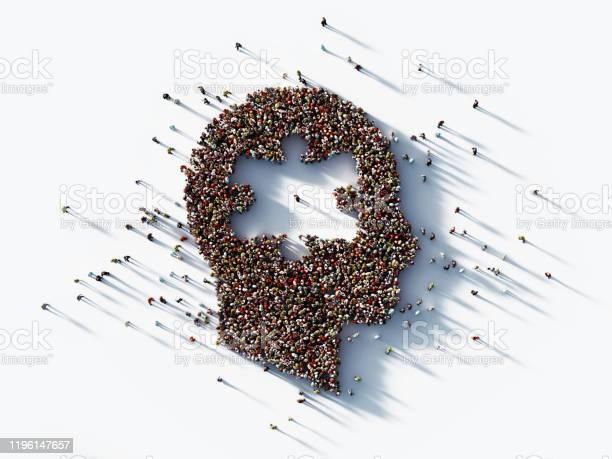 Human crowd forming a male head with jigsaw puzzle symbol on white picture id1196147657?b=1&k=6&m=1196147657&s=612x612&h=mmzi3vh6yo53qdhextses4iwx9tgbgfahqeutbwxcgo=