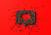 istock Human Crowd Forming A Speech Bubble with A Heart Shape Inside: Like and Donation Concept 1169038879