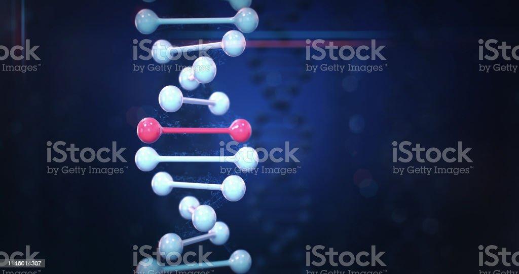 Human DNA (Dark) stock photo