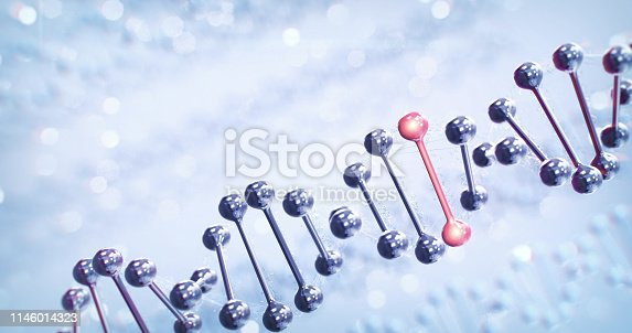 Abstract depiction of the human DNA, perfectly usable for a wide range of topics related to healthcare and medicine.