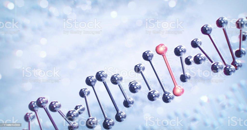 Human DNA (Bright) stock photo