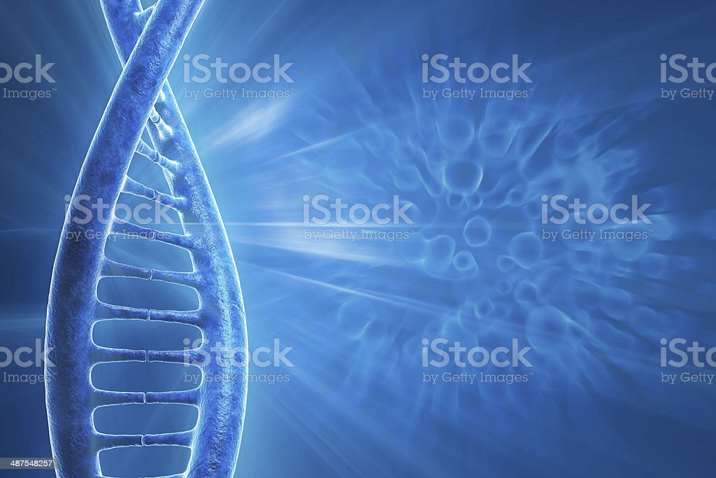 human DNA royalty-free stock photo