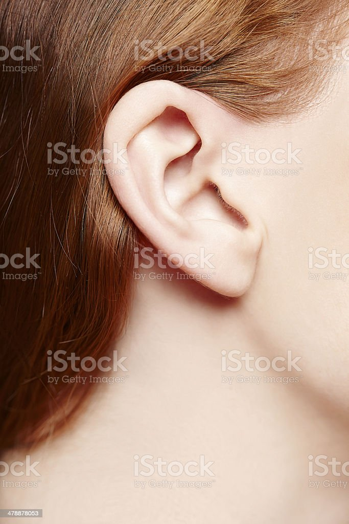 Menschliches Ohr, Nahaufnahme – Foto