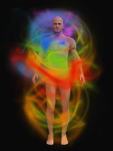 human energy body - aura stock photos and pictures