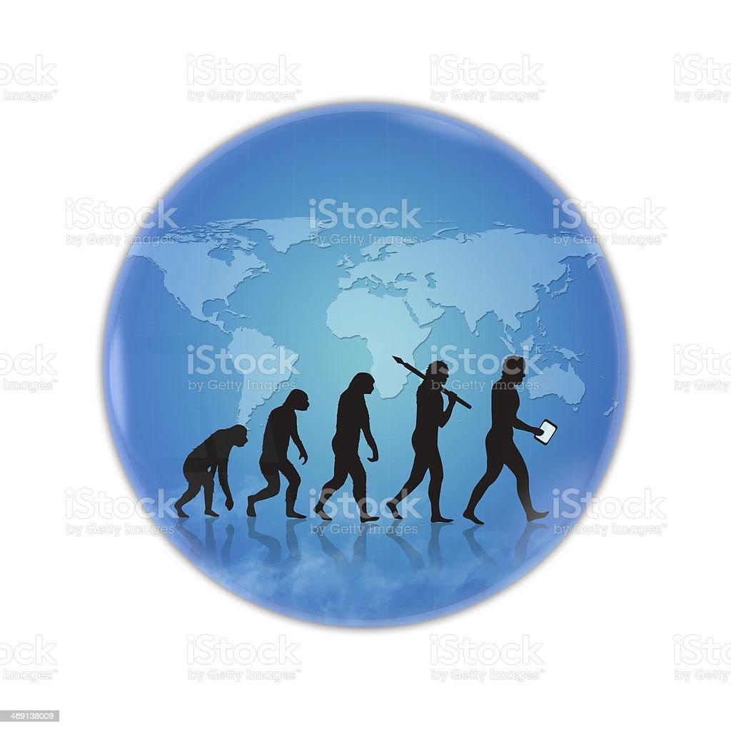 Human evolution royalty-free stock photo