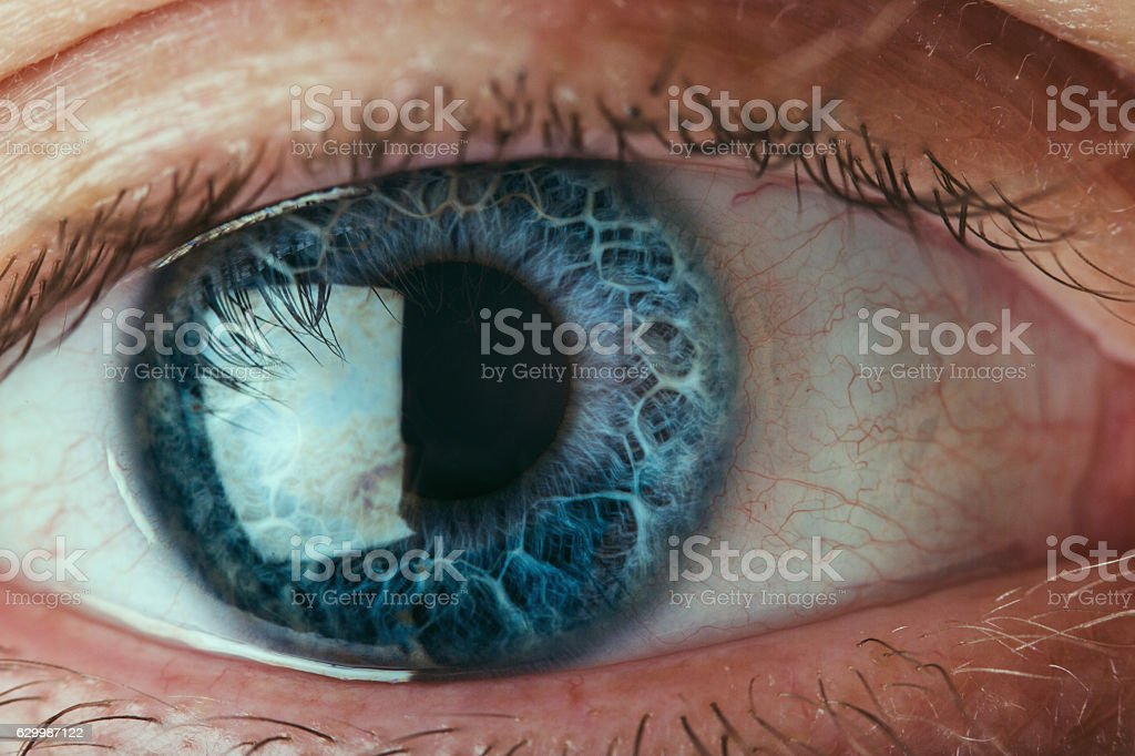 Human eye extreme close up stock photo