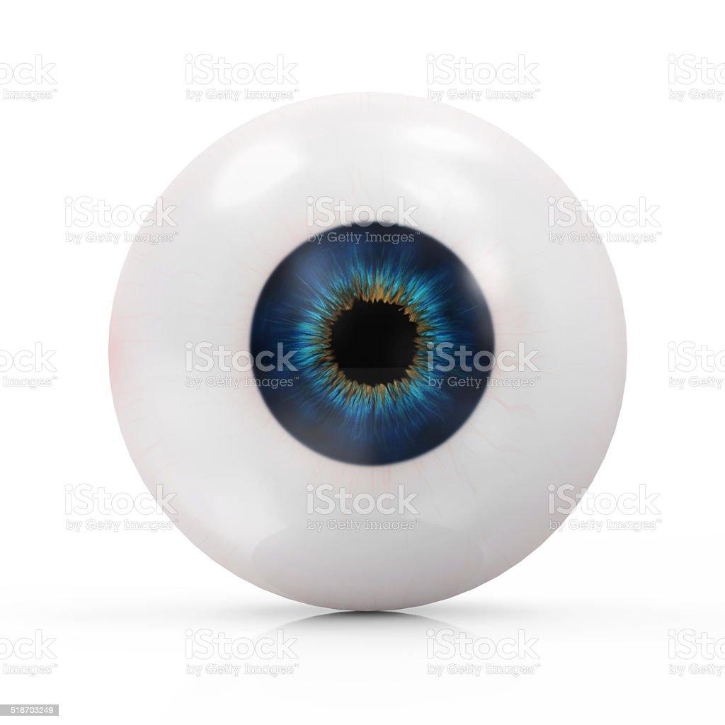Auge, isoliert auf weißem Hintergrund. – Foto