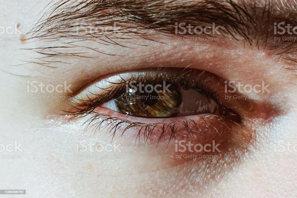 Human Eye macro closeup stock photo