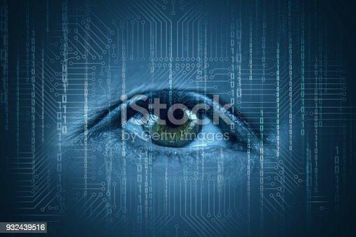 510584002istockphoto Human eyes watching the flow of information. 932439516