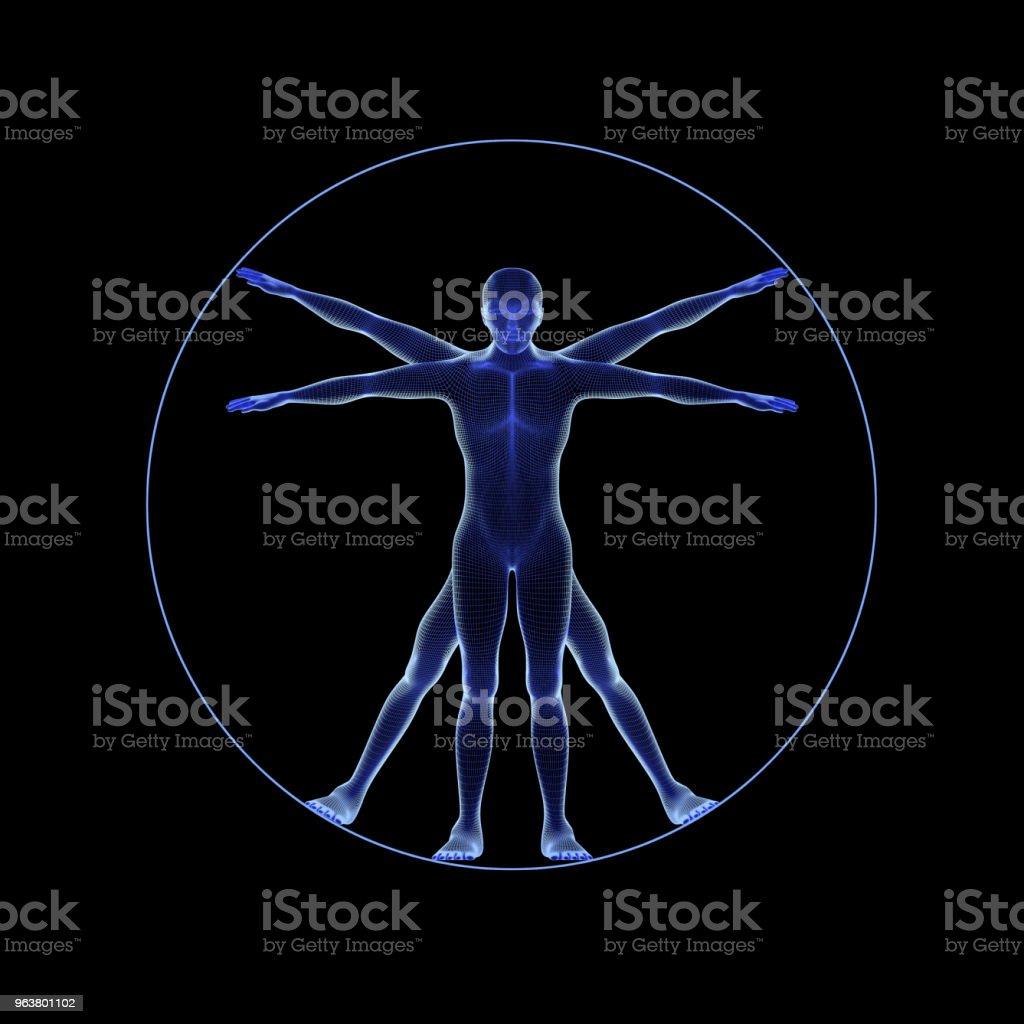 Fotografía de Una Figura Humana Como Leonard Da Vinci S Hombre ...