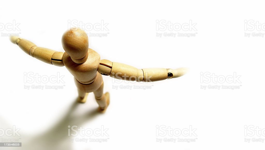Human figure - Open arms royalty-free stock photo