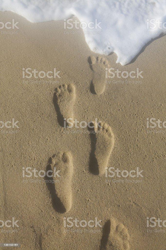 Human footmarks royalty-free stock photo