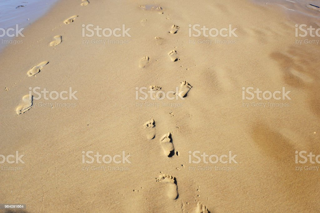 human footprints - Royalty-free Beach Stock Photo