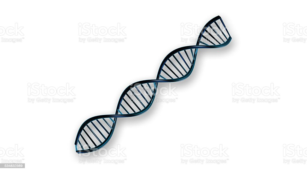 DNA human genome blue symbol stock photo