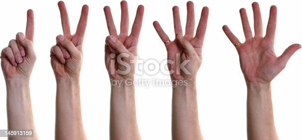 466657402 istock photo Human Hand Counting from One to Five 145913159