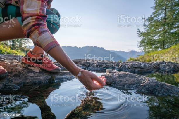 Human hand cupped to catch fresh water from mountain lake switzerland picture id1077023434?b=1&k=6&m=1077023434&s=612x612&h=6fmwwahymy7m exzumitqidy07z4onem0nmb wgv994=