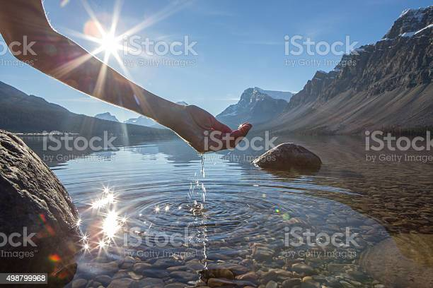 Human hand cupped to catch the fresh water from lake picture id498799968?b=1&k=6&m=498799968&s=612x612&h=yjki2ruto7qsieywdhvabsksnz9ovwsozze8skoob5y=