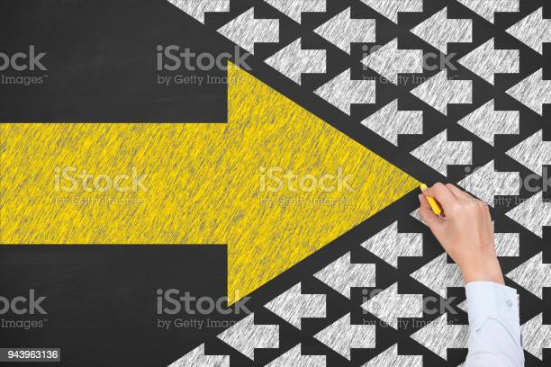 Human Hand Drawing Leadership Concepts Stock Photo - Download Image Now