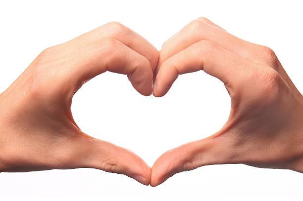 Menschliche hand bilden eine Liebe symbol. – Foto